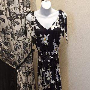 Styleword Black Floral Lily Jumpsuit